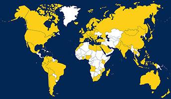 Países ativos